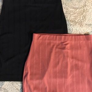 2 Express stretch skirts